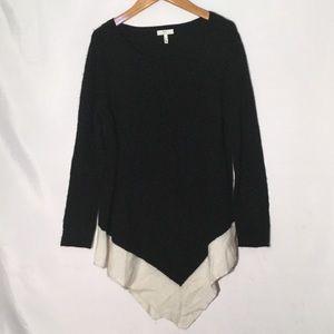 Joie asymmetrical sweater M